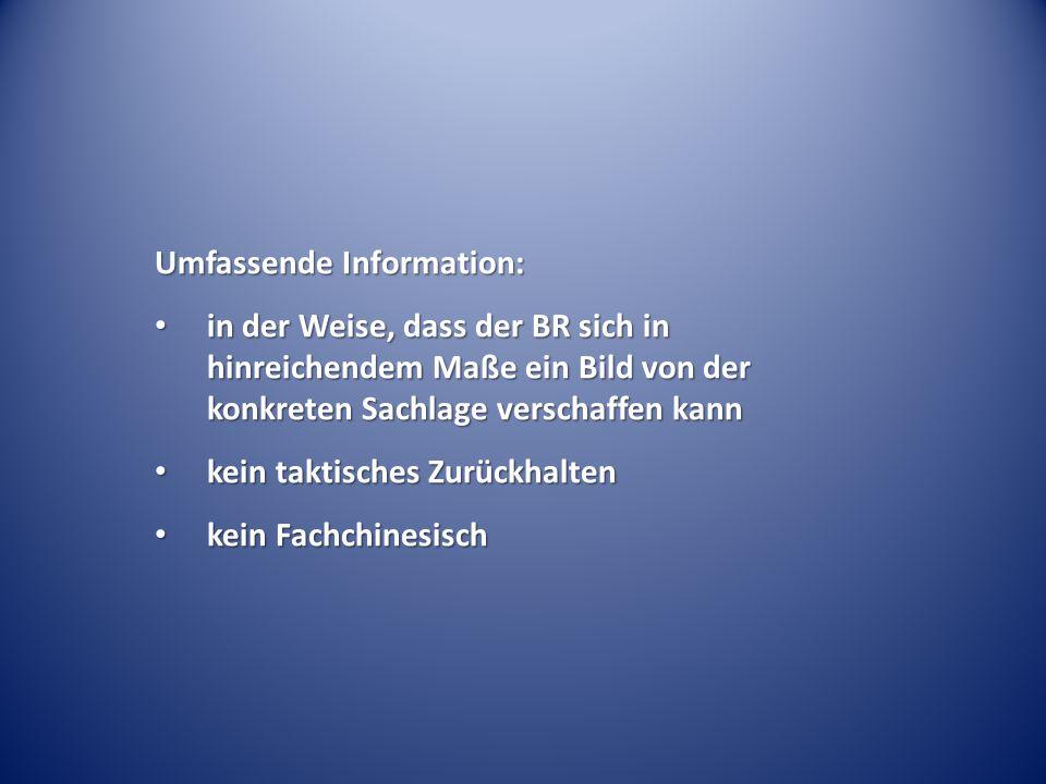 Umfassende Information: