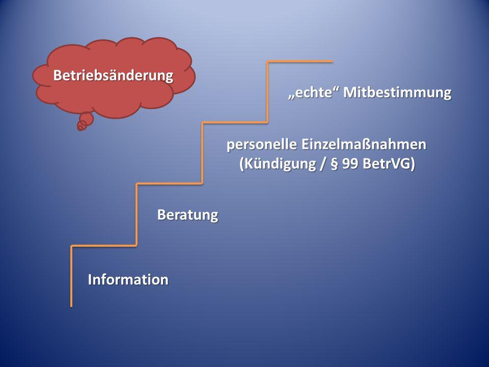 personelle Einzelmaßnahmen (Kündigung / § 99 BetrVG)