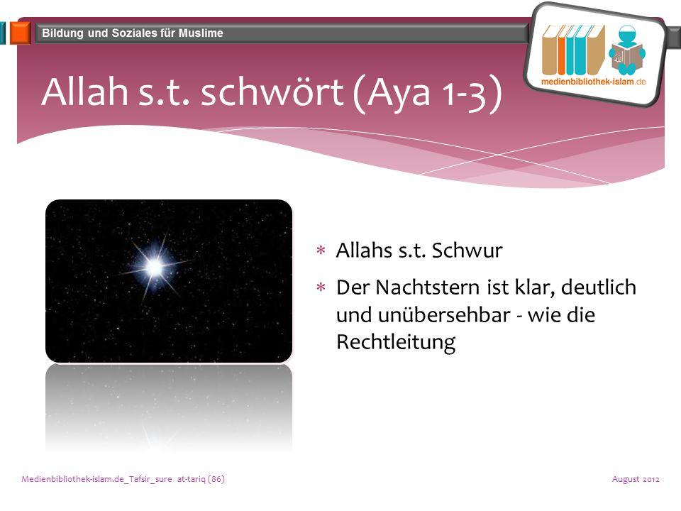 Allah s.t. schwört (Aya 1-3)