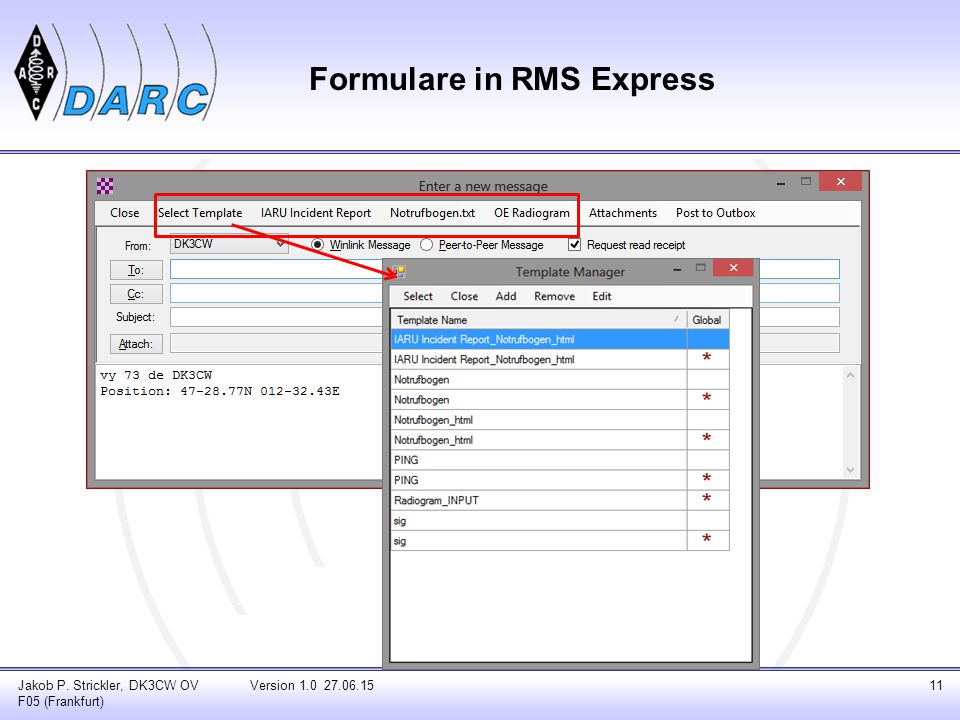 Formulare in RMS Express