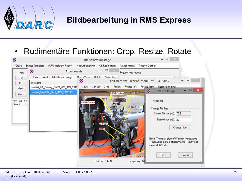 Bildbearbeitung in RMS Express