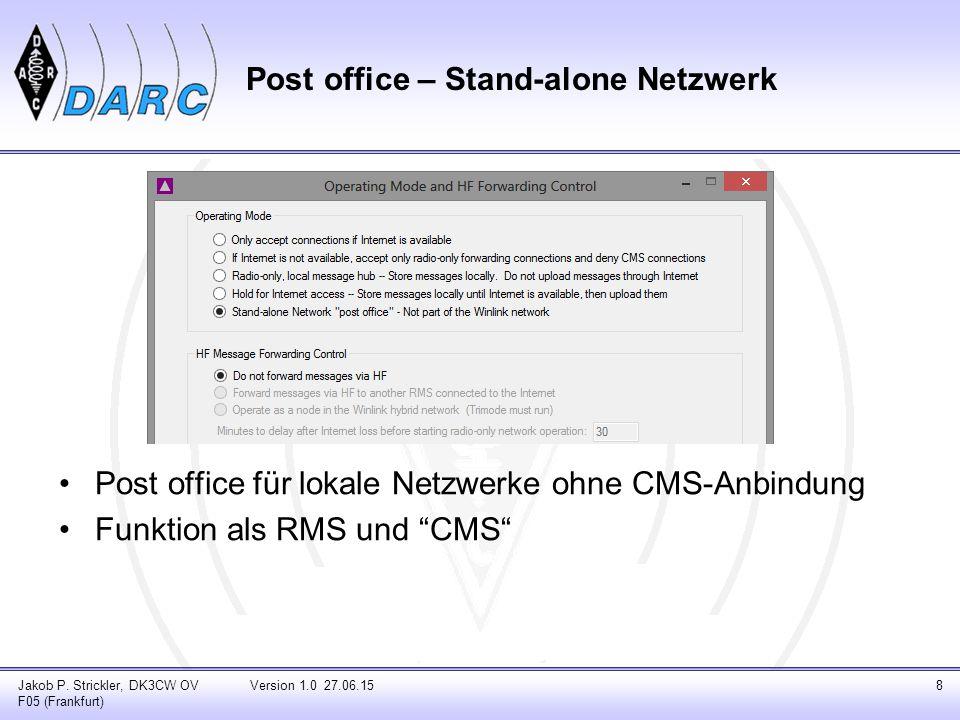 Post office – Stand-alone Netzwerk