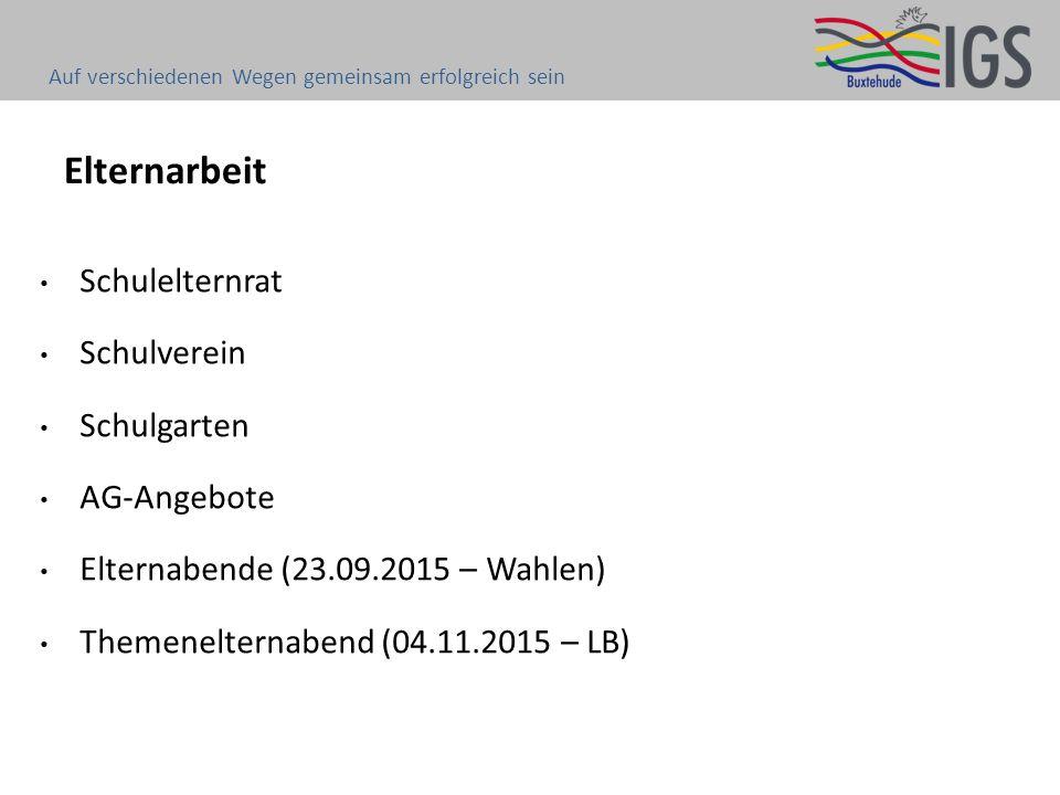Elternarbeit Schulelternrat Schulverein Schulgarten AG-Angebote