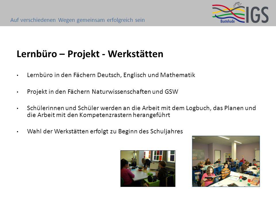 Lernbüro – Projekt - Werkstätten