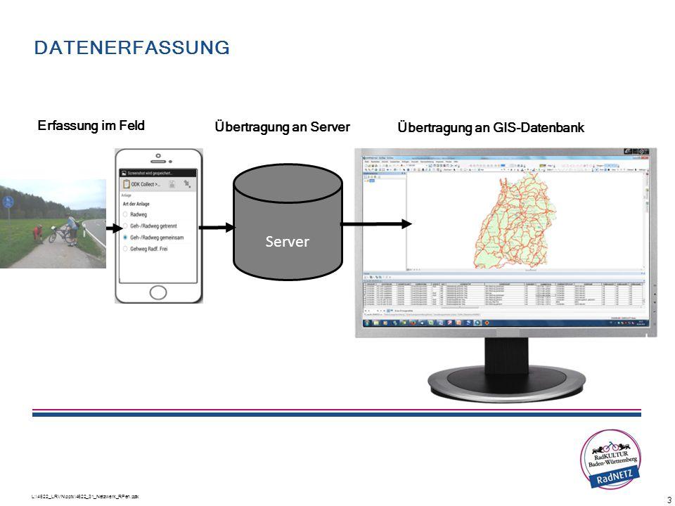 Datenerfassung Ablauf der Bearbeitung Server Erfassung im Feld