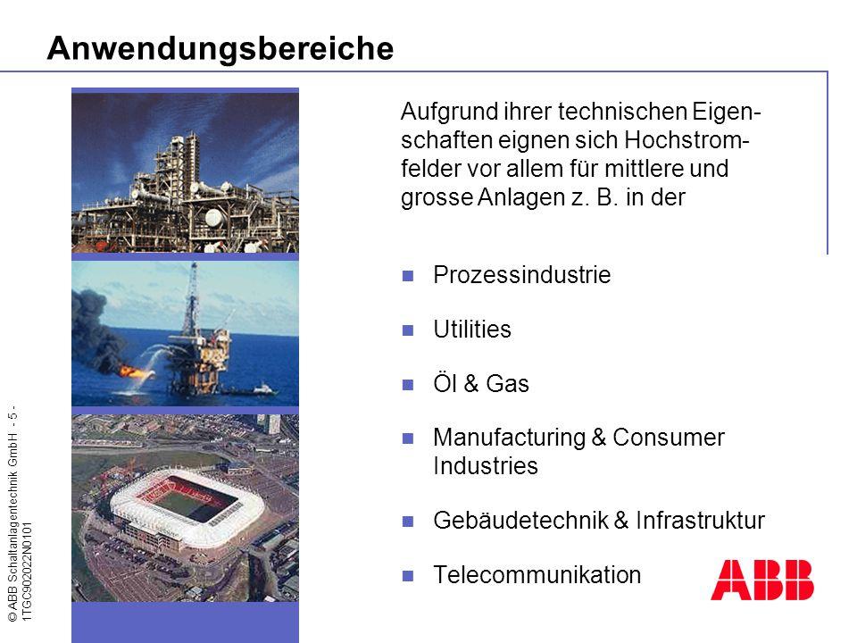 Anwendungsbereiche Aufgrund ihrer technischen Eigen-schaften eignen sich Hochstrom-felder vor allem für mittlere und grosse Anlagen z. B. in der.
