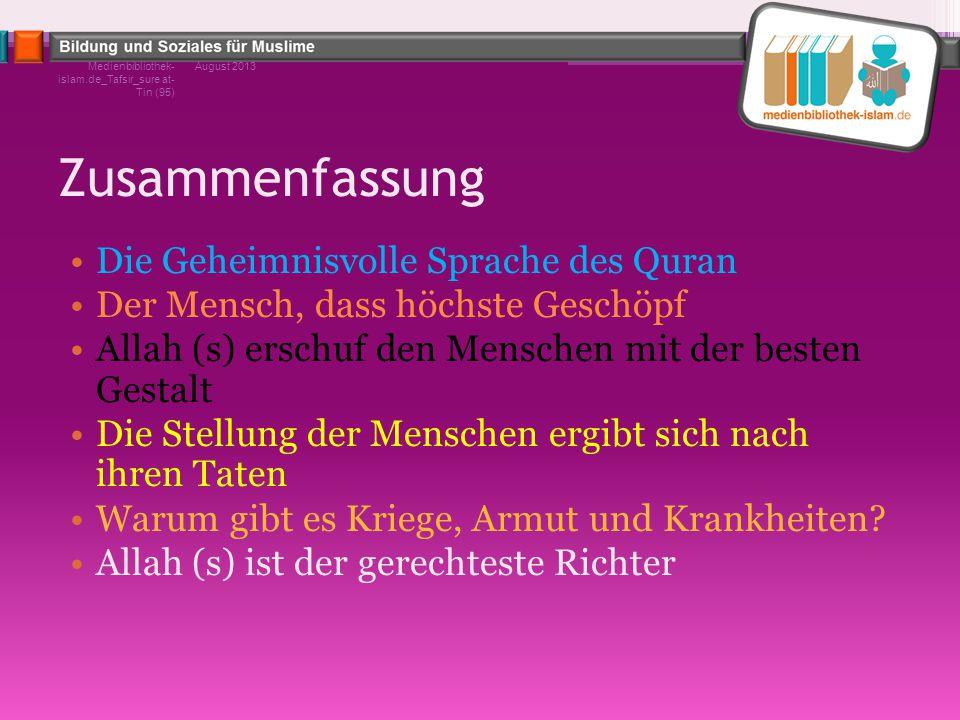 Zusammenfassung Die Geheimnisvolle Sprache des Quran