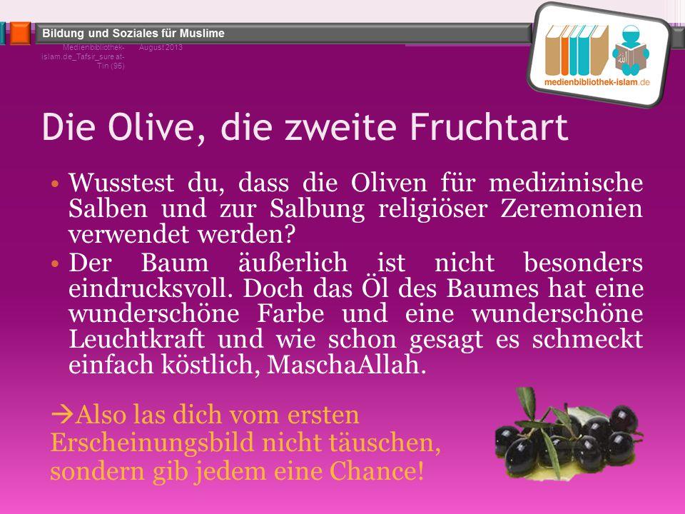 Die Olive, die zweite Fruchtart