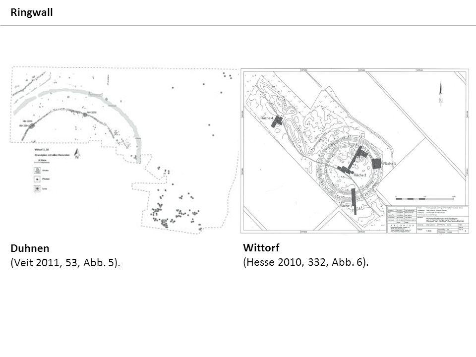 Ringwall Duhnen (Veit 2011, 53, Abb. 5). Wittorf (Hesse 2010, 332, Abb. 6).