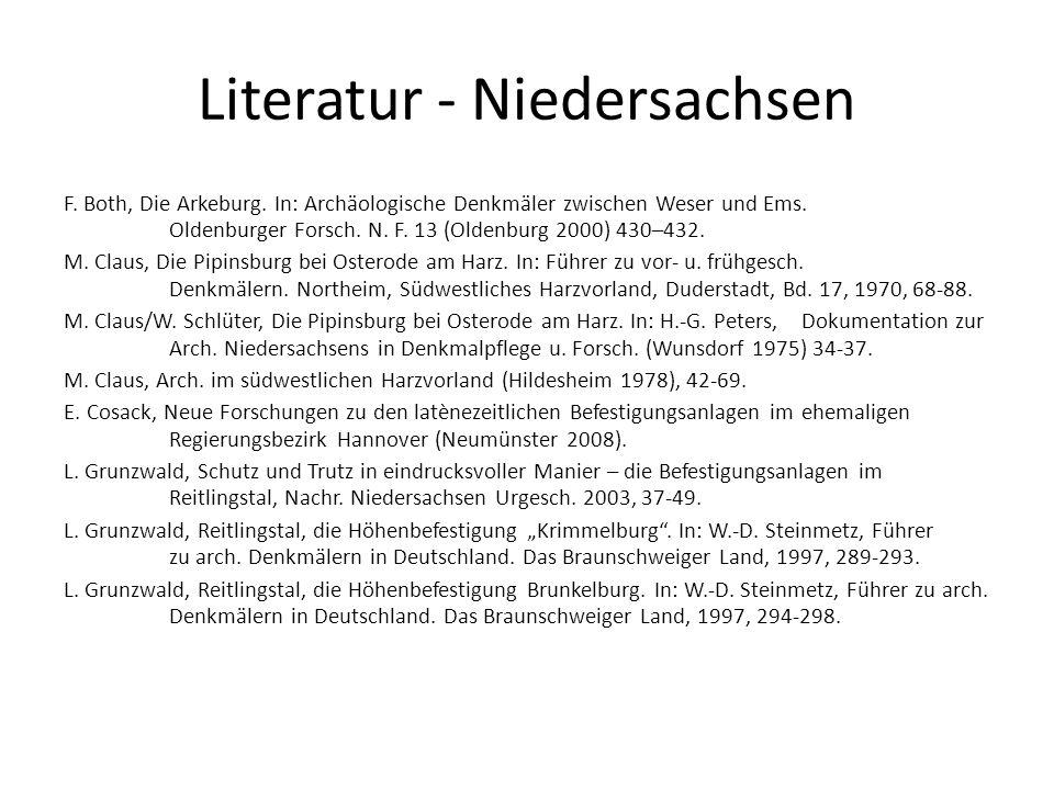 Literatur - Niedersachsen