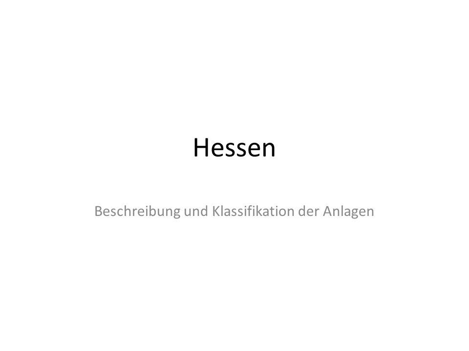 Beschreibung und Klassifikation der Anlagen