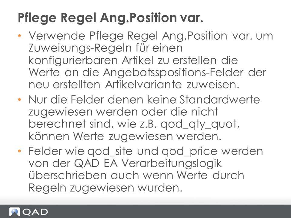 Pflege Regel Ang.Position var.