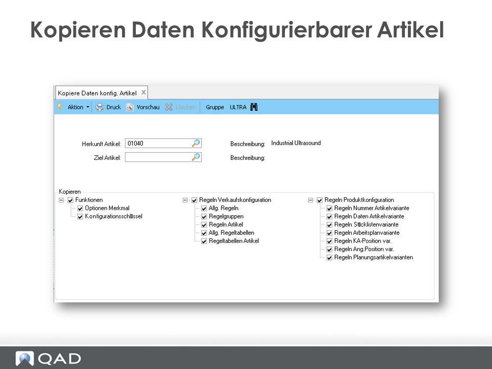 Kopieren Daten Konfigurierbarer Artikel