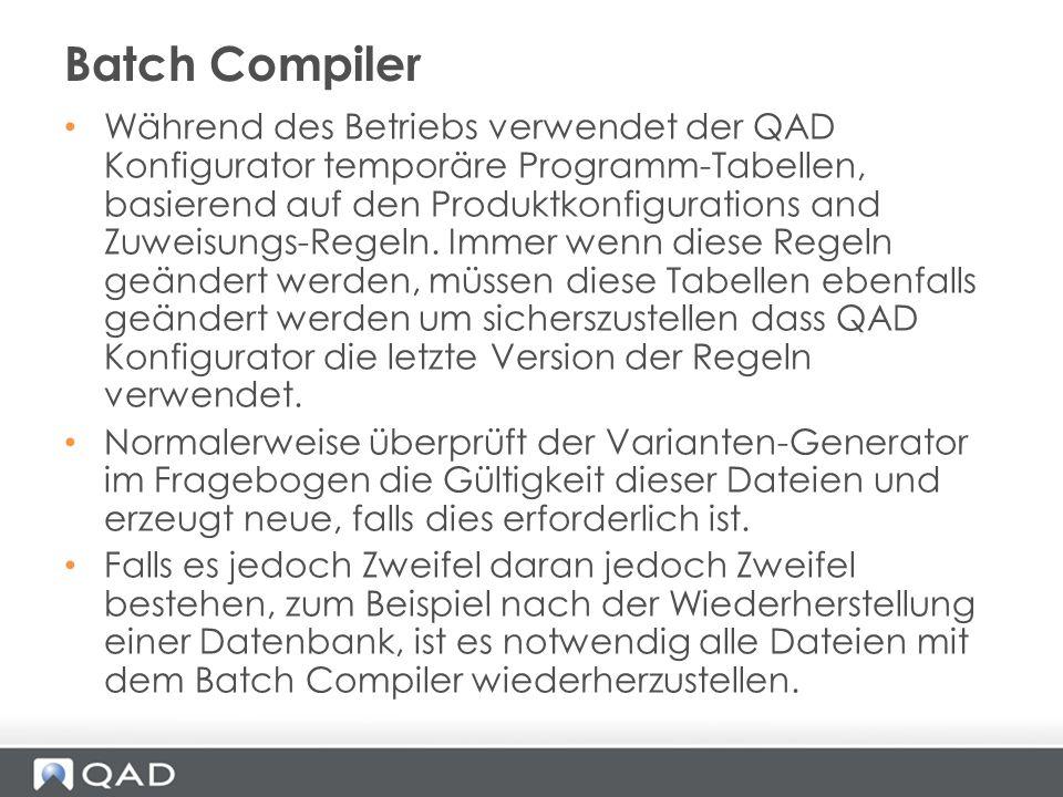 Batch Compiler