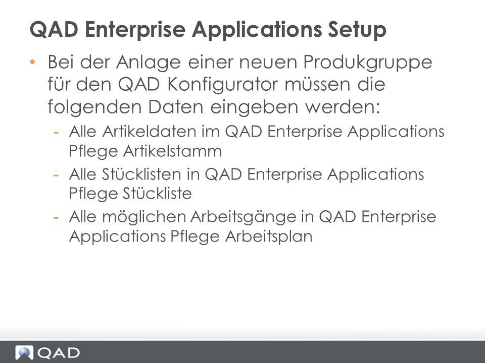 QAD Enterprise Applications Setup