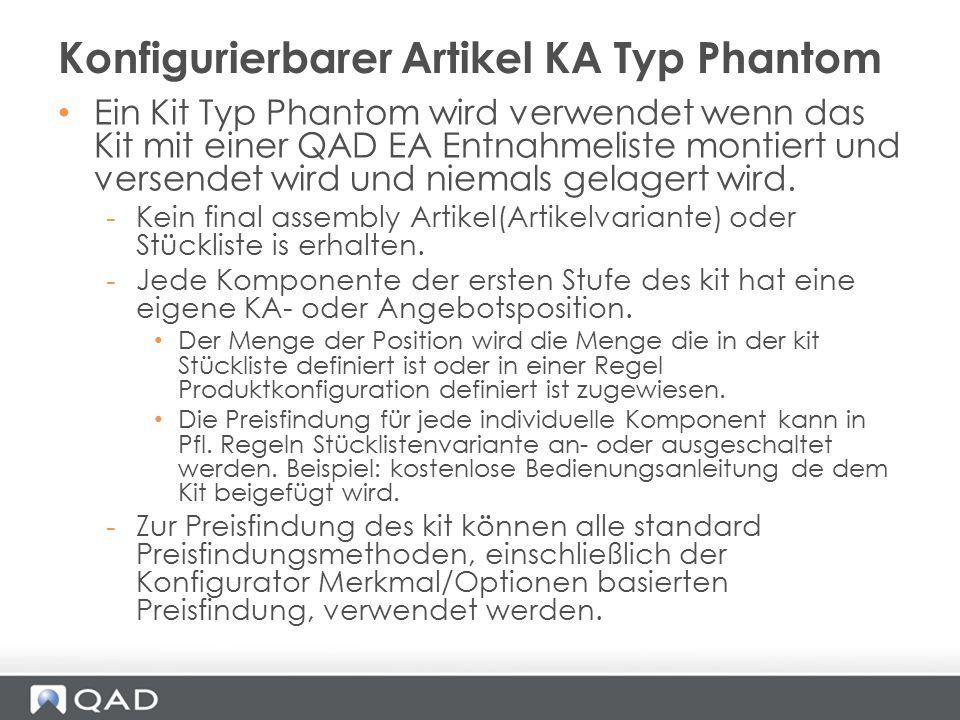 Konfigurierbarer Artikel KA Typ Phantom