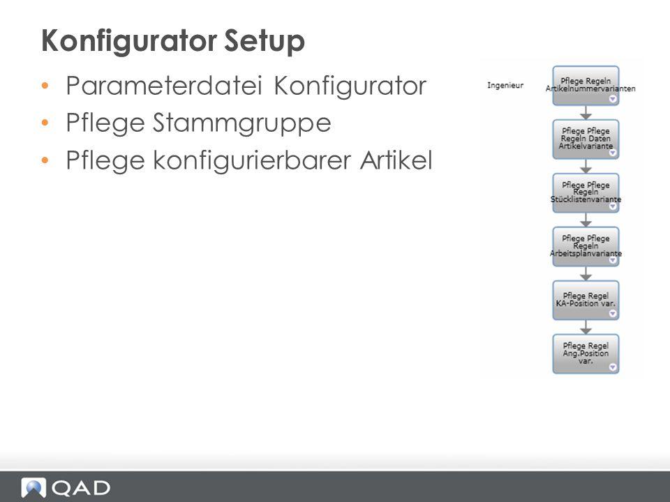 Konfigurator Setup Parameterdatei Konfigurator Pflege Stammgruppe