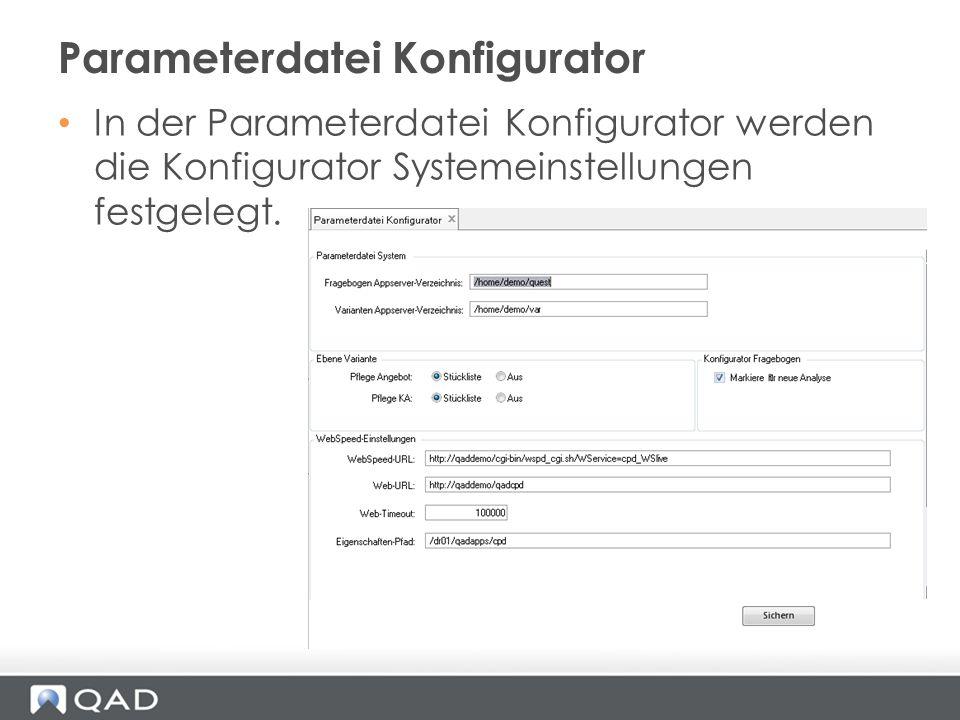 Parameterdatei Konfigurator