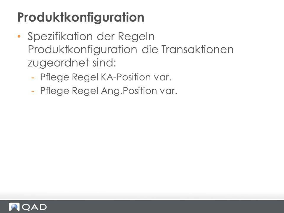 Produktkonfiguration
