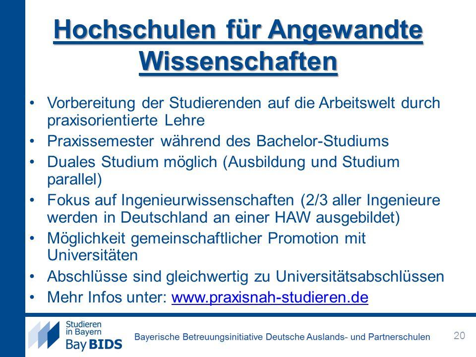 Hochschulen für Angewandte Wissenschaften