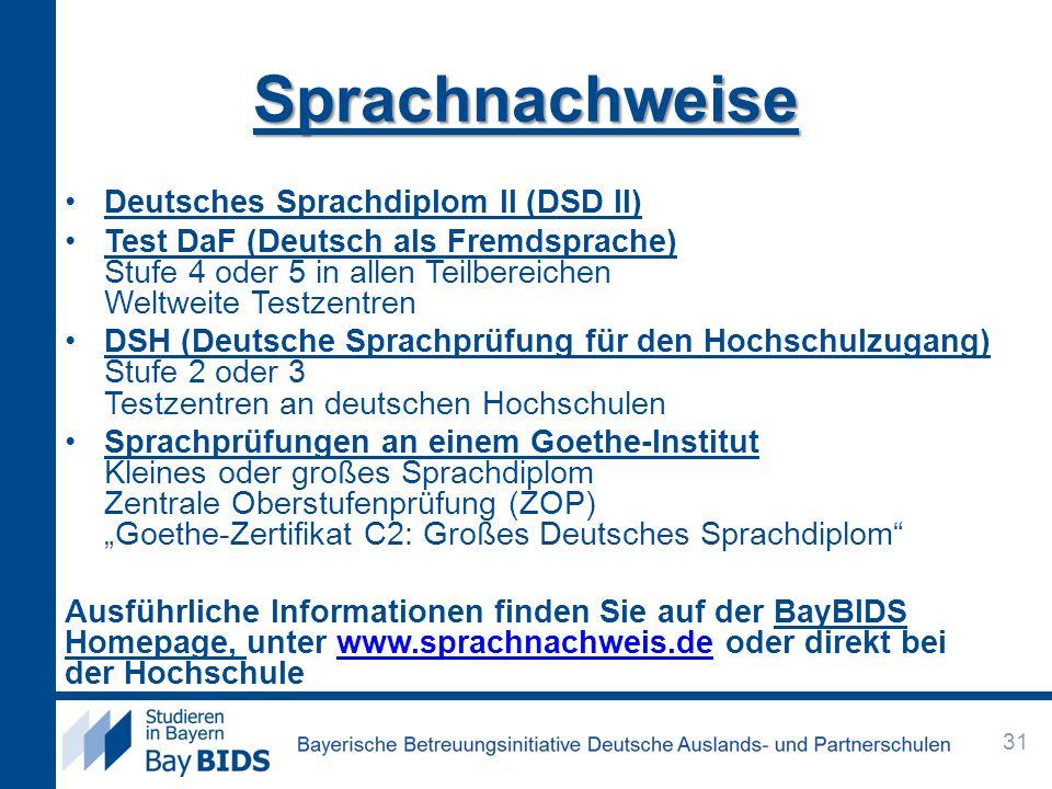 Sprachnachweise Deutsches Sprachdiplom II (DSD II)