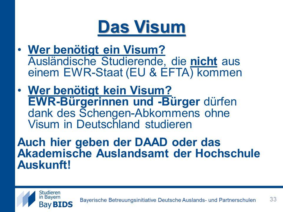 Das Visum Wer benötigt ein Visum Ausländische Studierende, die nicht aus einem EWR-Staat (EU & EFTA) kommen.