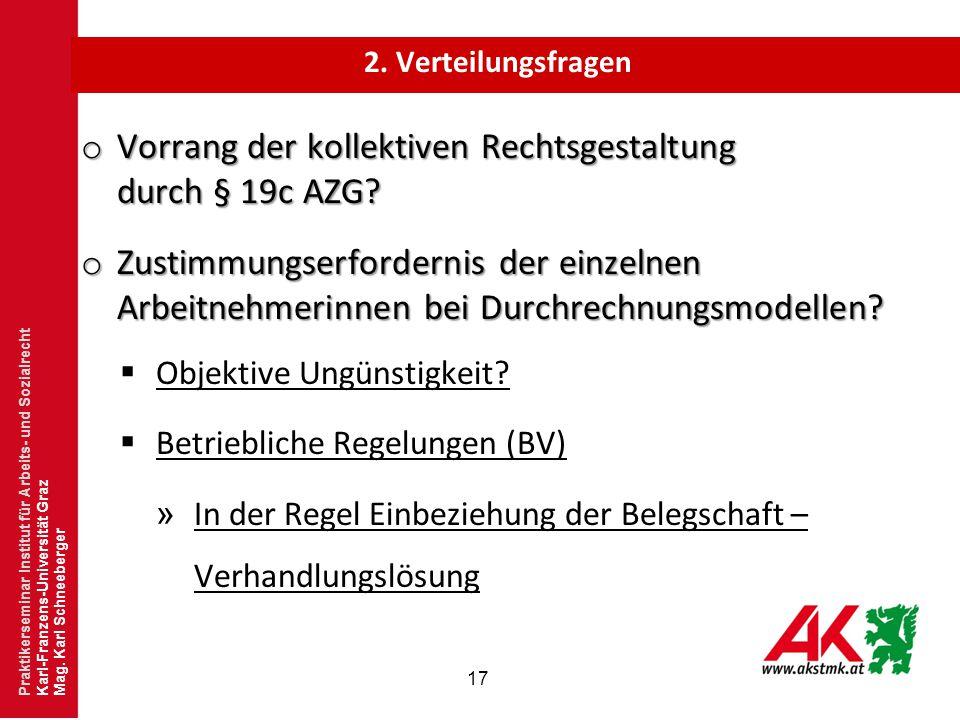 Vorrang der kollektiven Rechtsgestaltung durch § 19c AZG