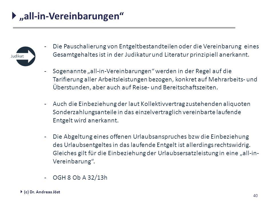 """  """"all-in-Vereinbarungen"""