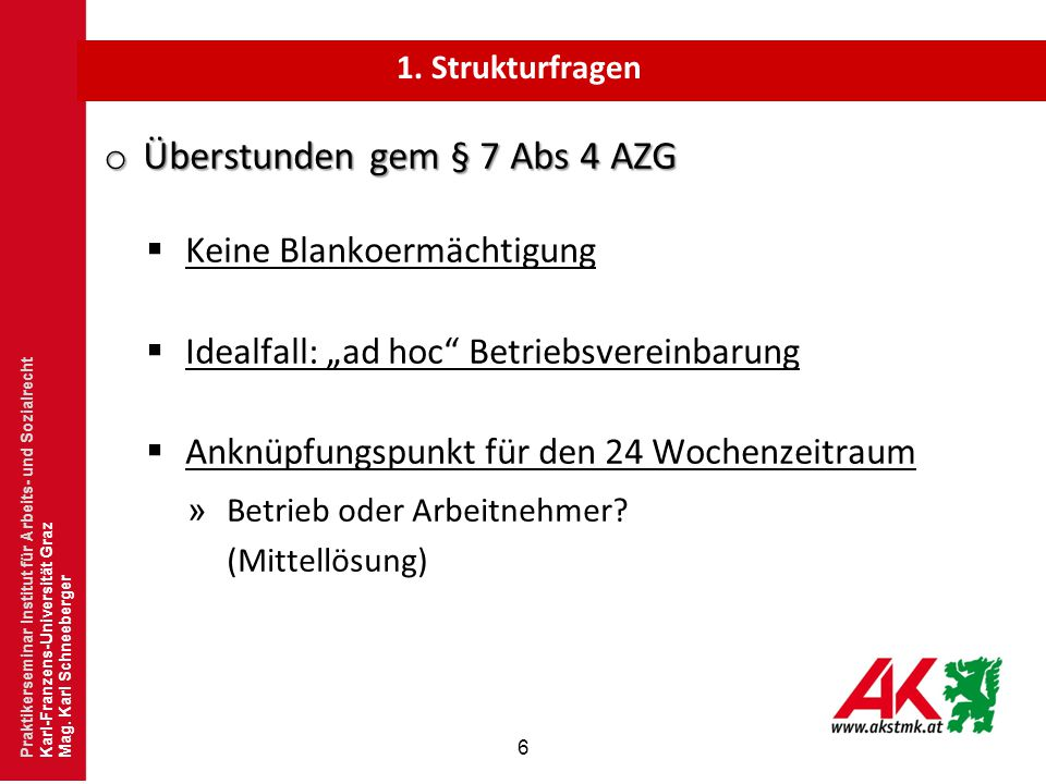Überstunden gem § 7 Abs 4 AZG