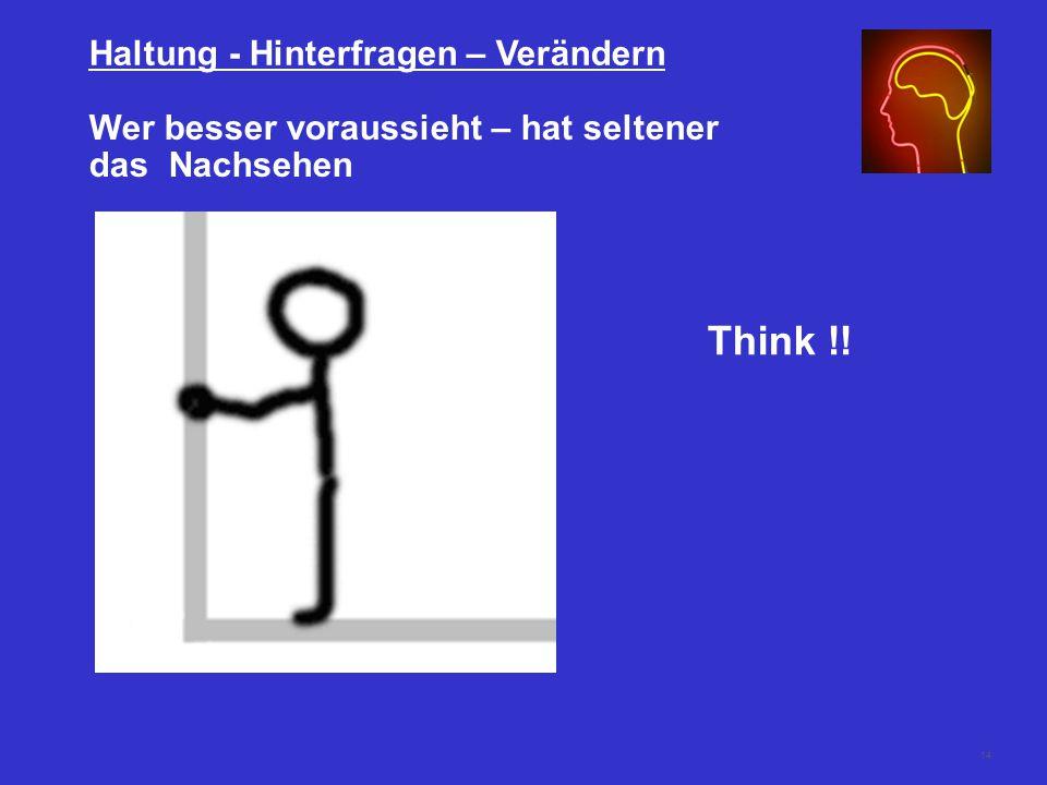 Think !! Haltung - Hinterfragen – Verändern