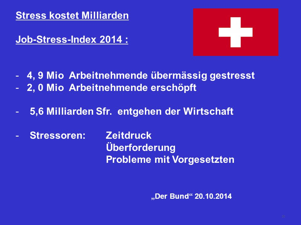 Stress kostet Milliarden