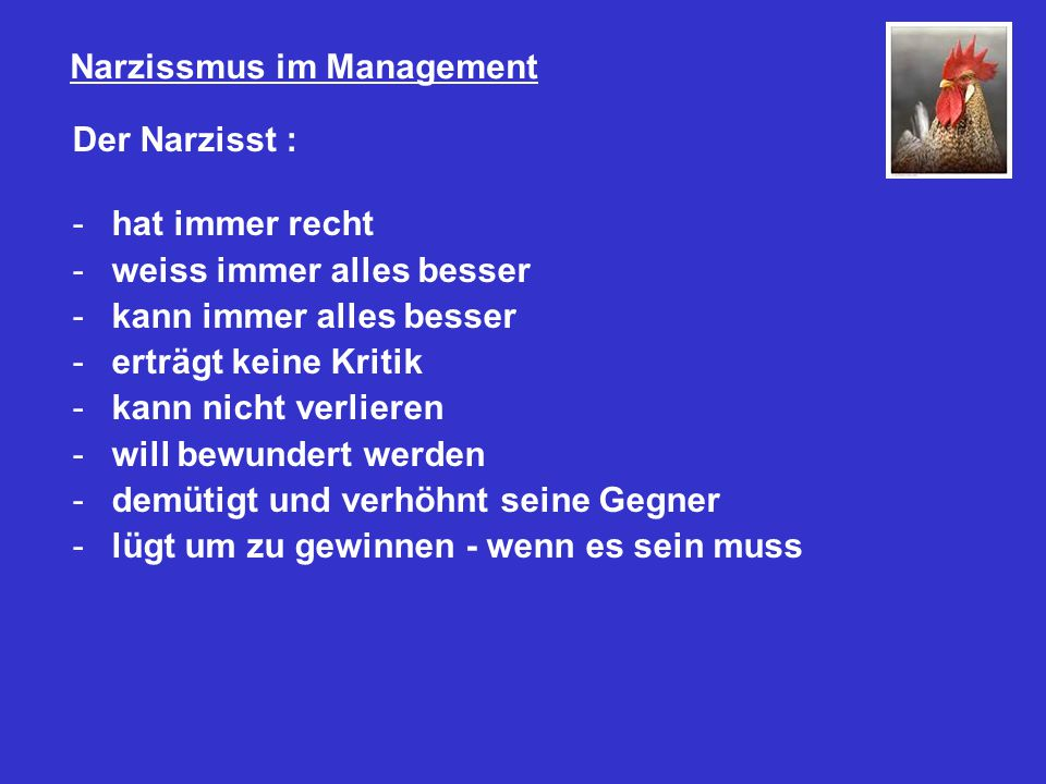 Narzissmus im Management