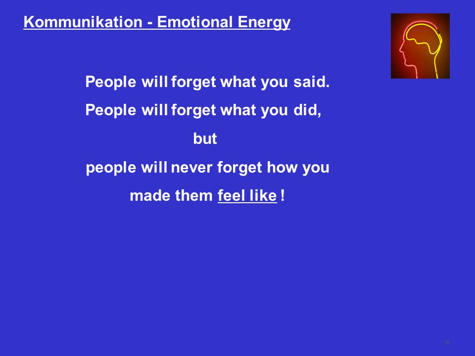 Kommunikation - Emotional Energy