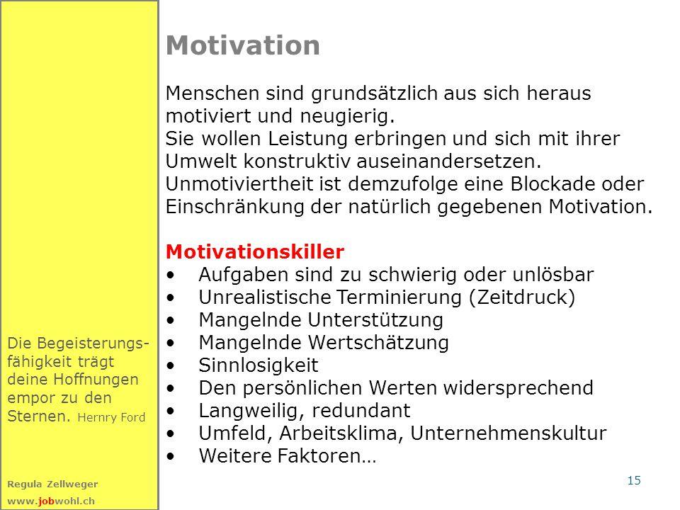 Motivation Menschen sind grundsätzlich aus sich heraus
