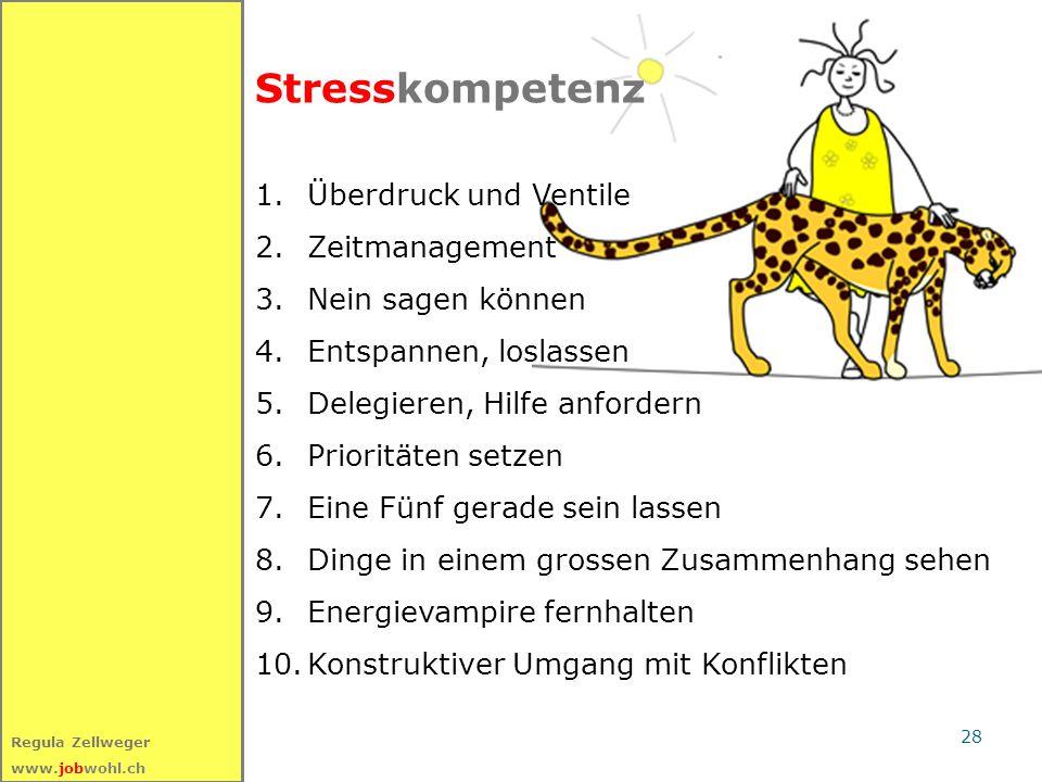 Stresskompetenz Überdruck und Ventile Zeitmanagement Nein sagen können
