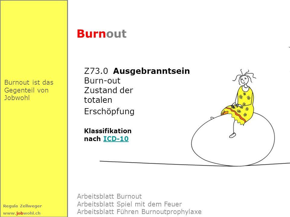 Burnout Z73.0 Ausgebranntsein Burn-out Zustand der totalen Erschöpfung