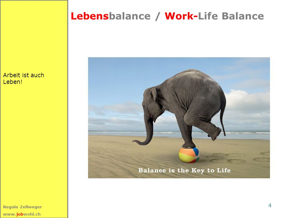 Lebensbalance / Work-Life Balance