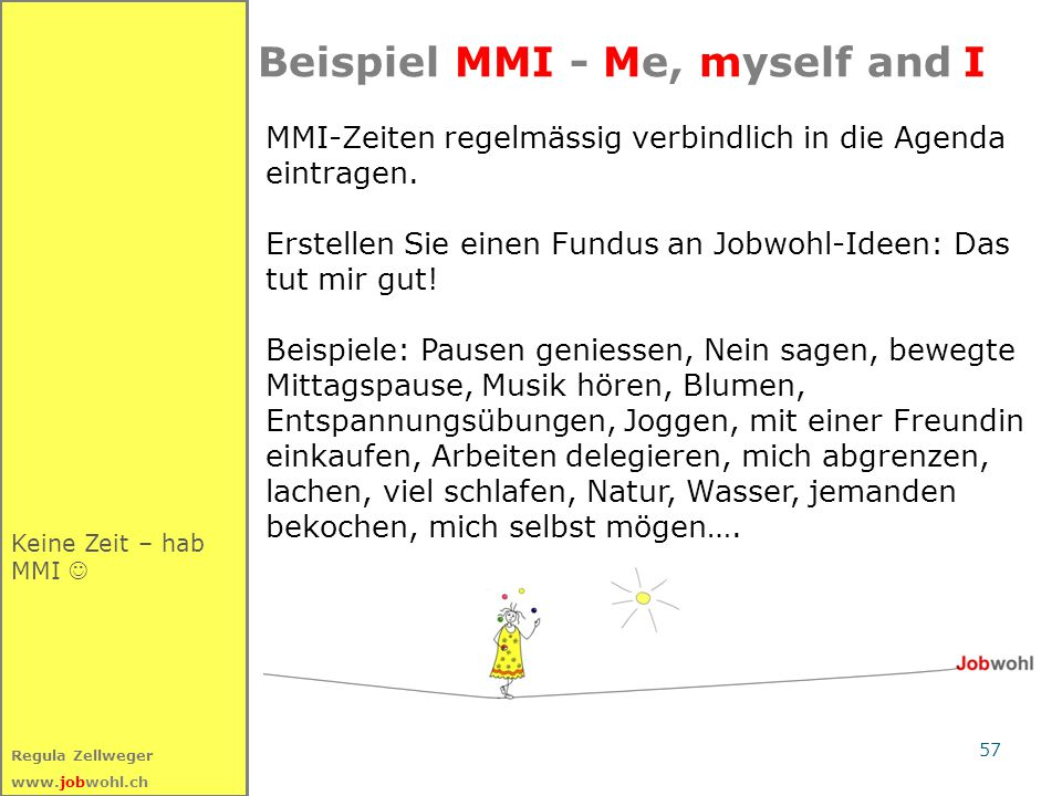 Beispiel MMI - Me, myself and I