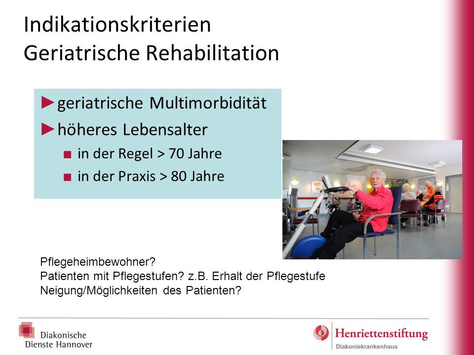 Indikationskriterien Geriatrische Rehabilitation