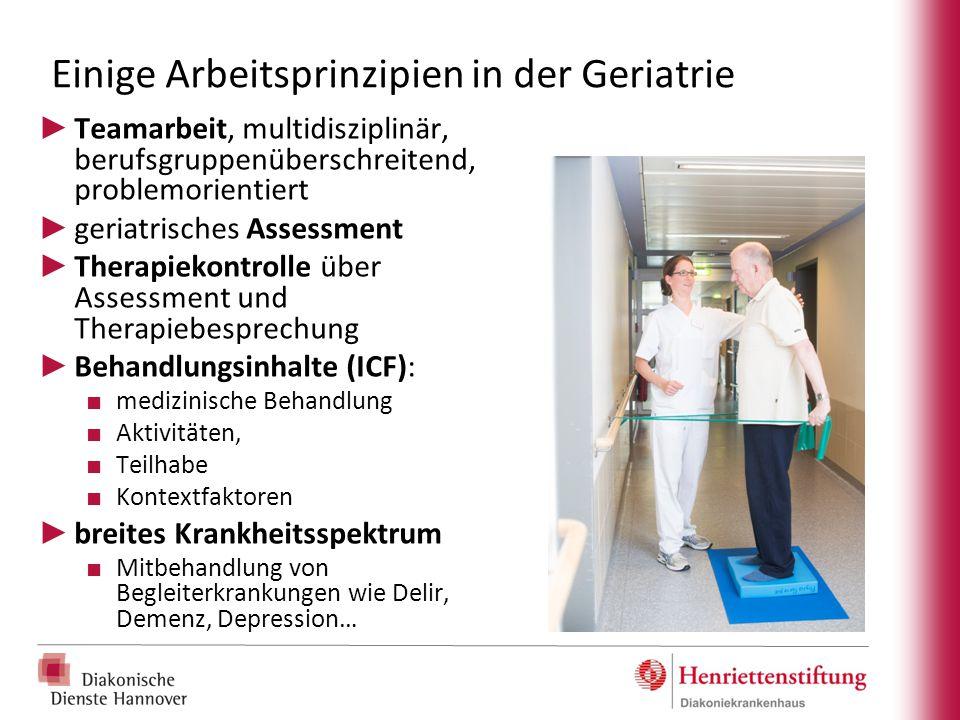 Einige Arbeitsprinzipien in der Geriatrie