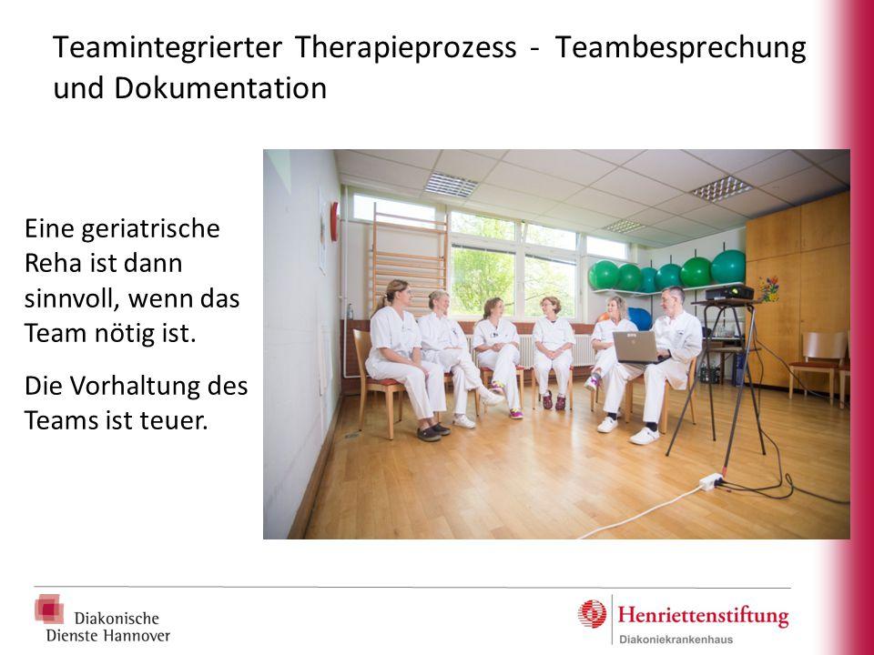 Teamintegrierter Therapieprozess - Teambesprechung und Dokumentation