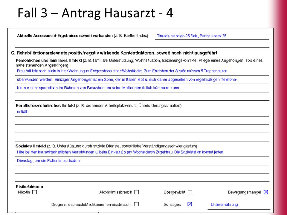 Fall 3 – Antrag Hausarzt - 4