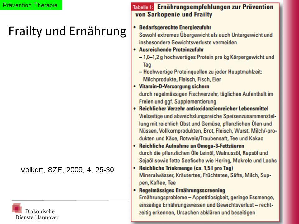 Frailty und Ernährung Volkert, SZE, 2009, 4, 25-30