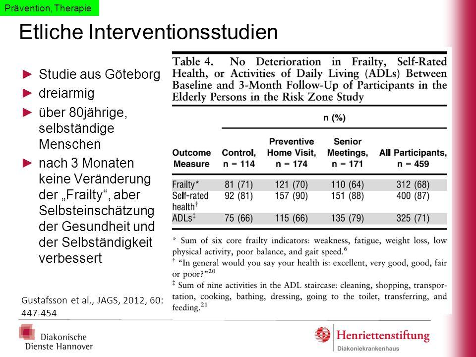 Etliche Interventionsstudien