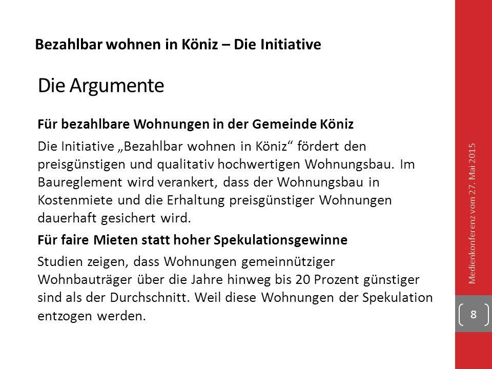 Die Argumente Für bezahlbare Wohnungen in der Gemeinde Köniz