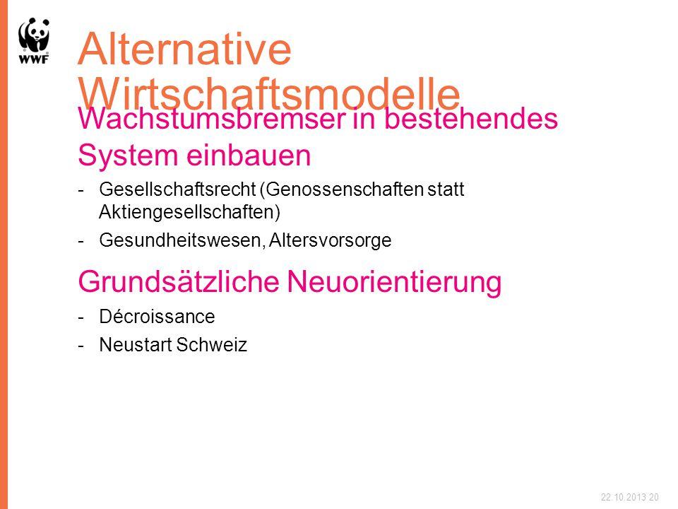 Alternative Wirtschaftsmodelle