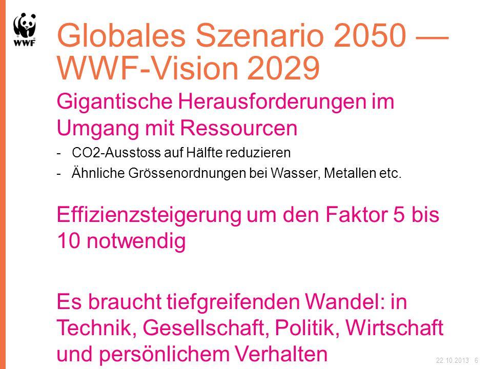 Globales Szenario 2050 — WWF-Vision 2029