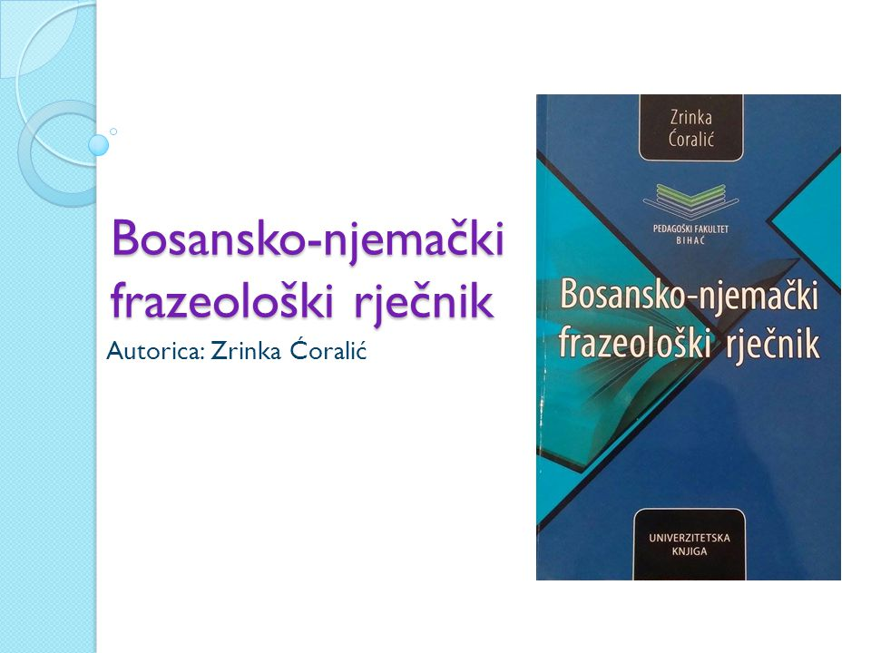 Bosansko-njemački frazeološki rječnik