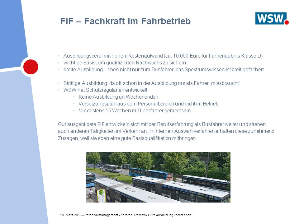 FiF – Fachkraft im Fahrbetrieb
