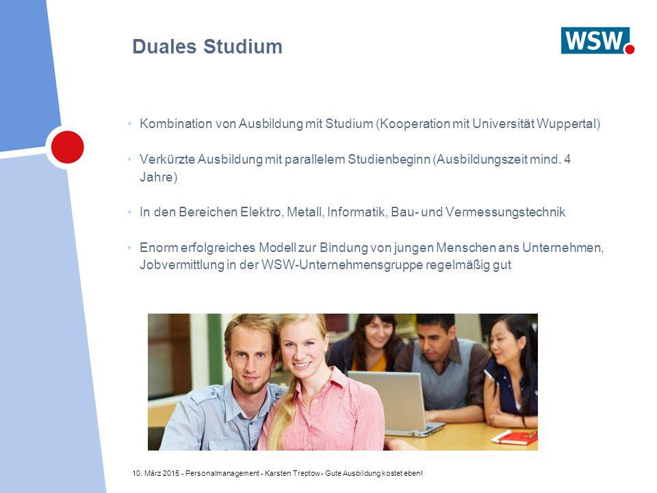 Duales Studium Kombination von Ausbildung mit Studium (Kooperation mit Universität Wuppertal)